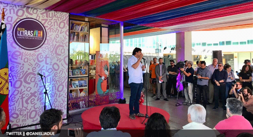 Alcalde de Recoleta, Daniel Jadue, inaugura la primera librería popular del país