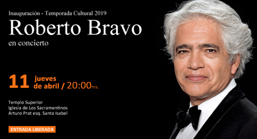 Pianista chileno Roberto Bravo ofrecerá concierto gratuito en la Iglesia Los Sacramentinos