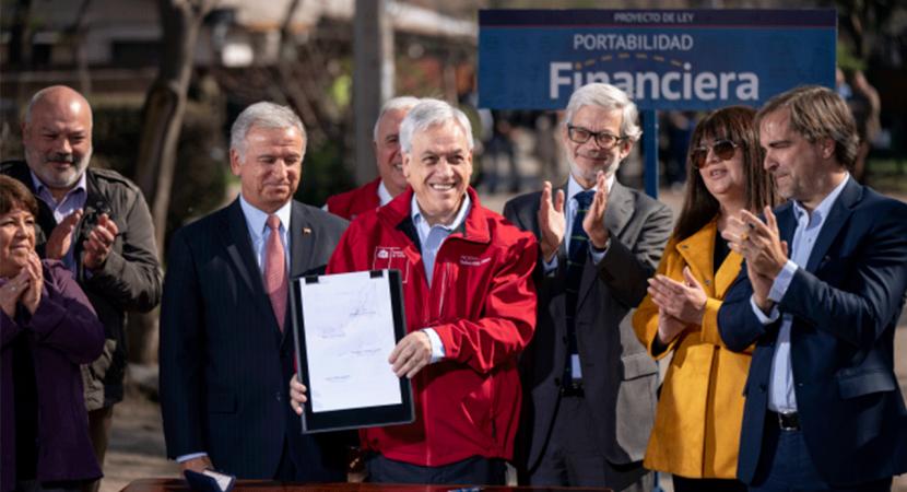 Presidente Piñera presenta proyecto de portabilidad financiera
