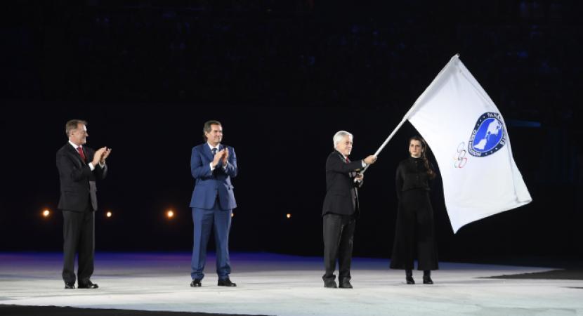 Presidente Sebastián Piñera recibe bandera de Juegos Panamericanos y celebra desempeño de Chile en Lima 2019
