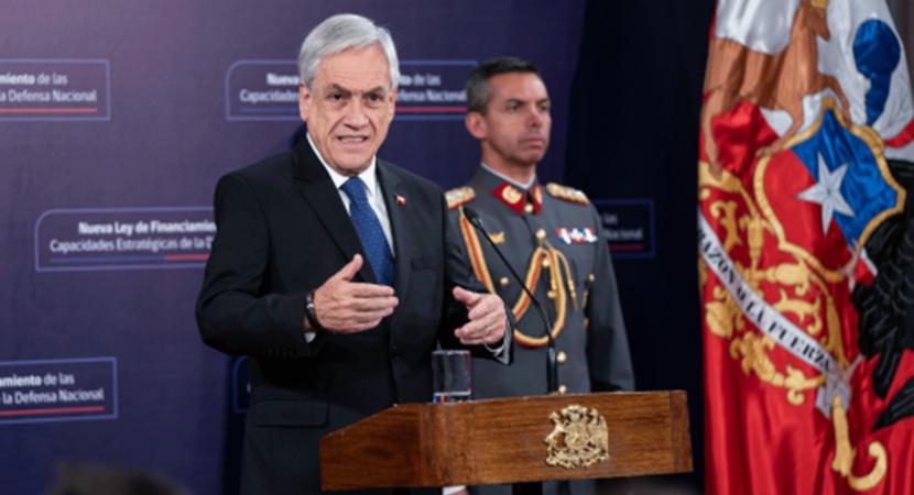 Presidente Sebastián Piñera promulga nueva ley de financiamiento de las Fuerzas Armadas que deroga la Ley del Cobre