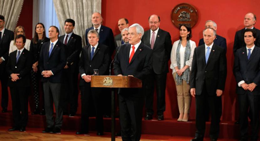 Presidente Sebastián Piñera presenta sus 8 nuevos ministros