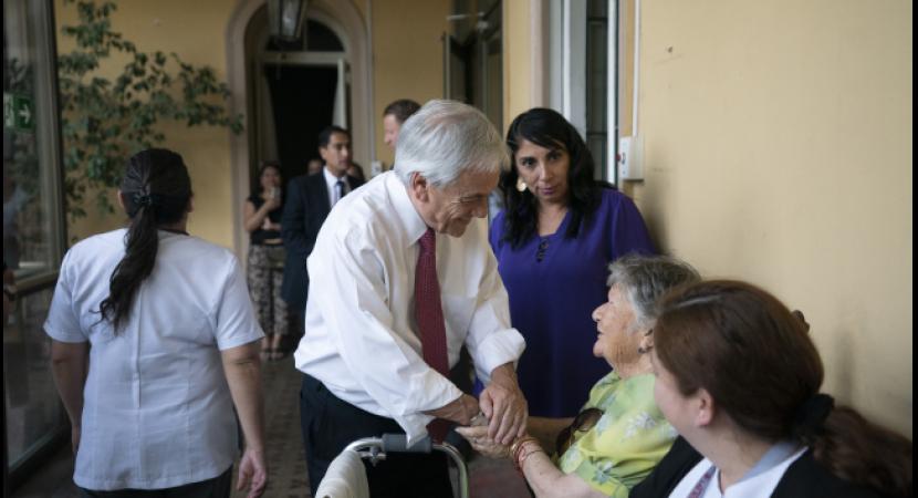 Presidente Sebastián Piñera destaca medidas para adultos mayores: pensiones subirán un 50% con gradualidad