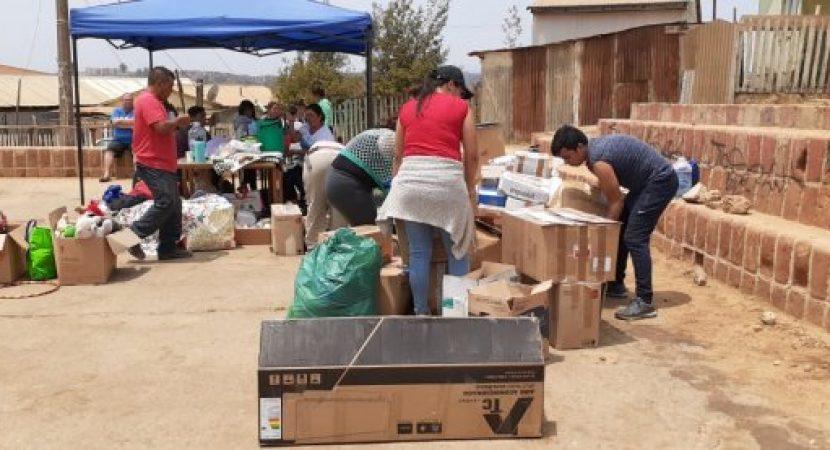 Centralinos viajan hasta la Región de Valparaíso para prestar apoyo a familias afectadas por incendios forestales