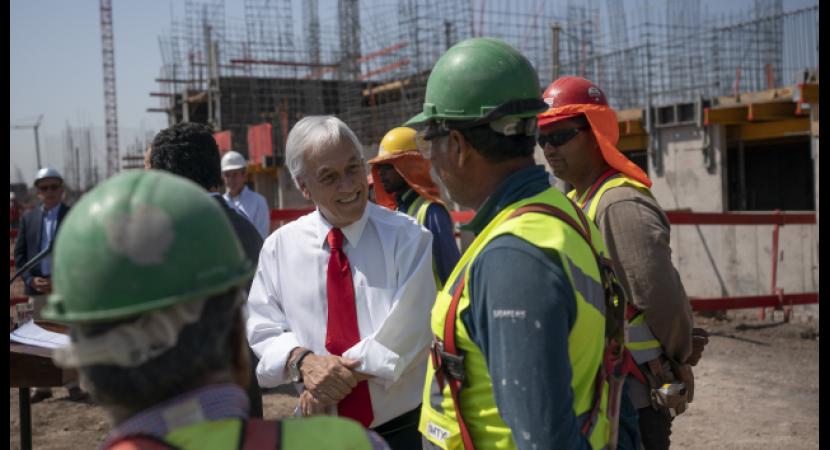 Presidente Sebastián Piñera anuncia inyección de US$ 475 millones en vivienda e infraestructura urbana