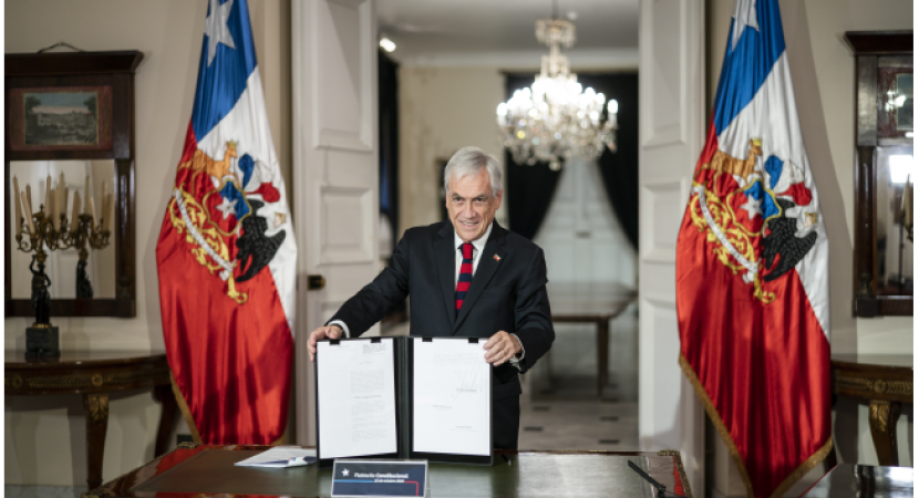 Presidente Sebastián Piñera promulga calendario electoral para el plebiscito