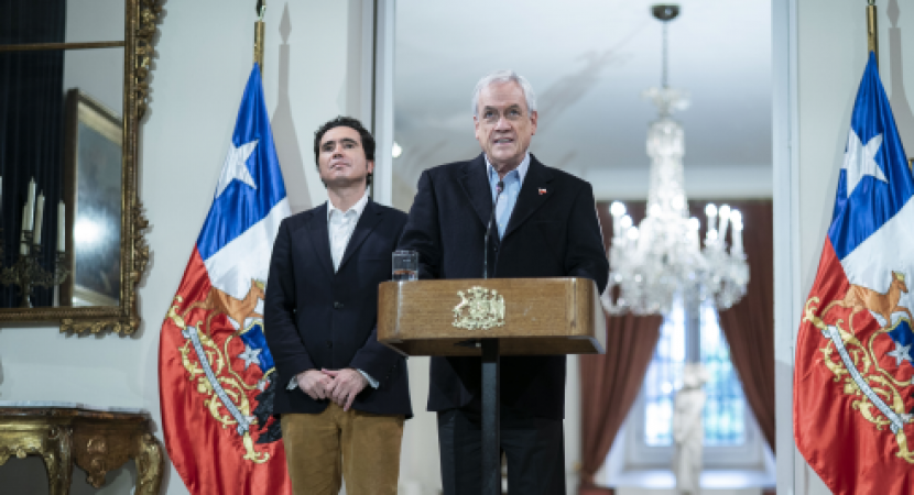 Presidente Sebastián Piñera da a conocer condiciones en que la banca entregará créditos con garantías estatales