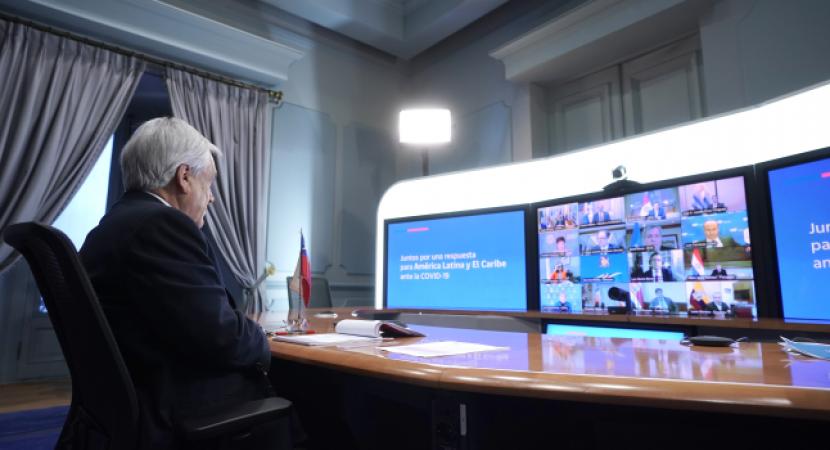 Presidente Piñera, en conjunto con otros mandatarios ponen en marcha iniciativa para aumentar la ayuda financiera y técnica para los países de América Latina y el Caribe