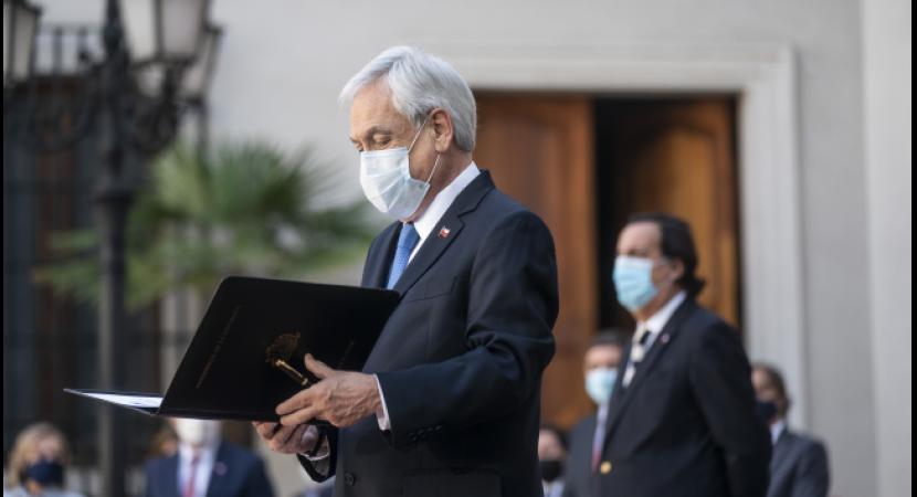 Presidente Sebastián Piñera realiza su quinto cambio de gabinete