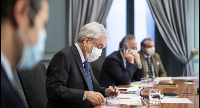 Presidente Sebastián Piñera participa por videoconferencia en cumbre de Jefes de Estado del Mercosur