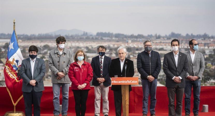 Presidente Sebastián Piñera lanza descuento en la tarifa eléctrica de calefacción para 10 comunas de Chile
