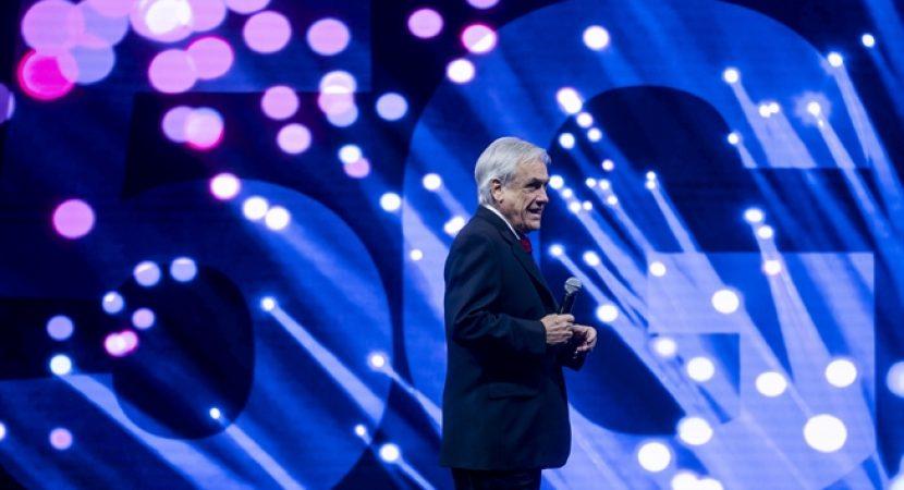 Presidente Sebastián Piñera anuncia inicio de licitación de red 5G para Chile
