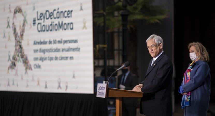 Presidente Sebastián Piñera promulga Ley Nacional del Cáncer