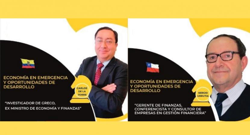 Académico de la Universidad Central comparte panel internacional con exministro de Economía de Ecuador