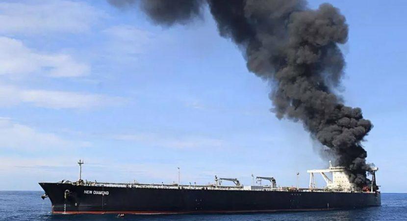 Continúa lucha contra las llamas de buque petrolero en Sri Lanka