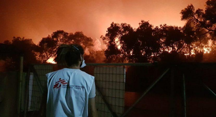 Incendio deja a cerca de 13 mil refugiados sin albergue en Grecia