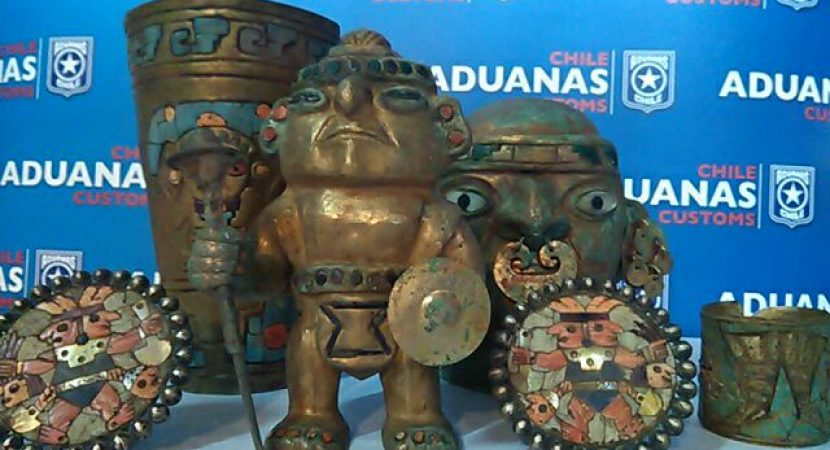 Aduanas controlará envíos de piezas arqueológicas a Estados Unidos