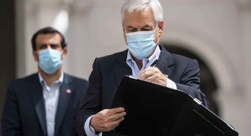 Presidente Sebastián Piñera firma proyecto de ley contra el crimen organizado