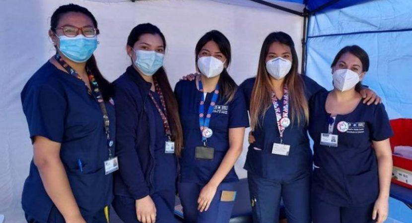 Estudiantes de Enfermería de la Ucentral participan en histórica vacunación contra el COVID-19