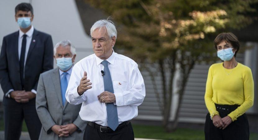 Presidente Piñera anuncia nuevo acuerdo con Cansino-Saval para la obtención de vacunas contra el Covid-19