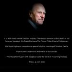 Cae el cuarto puente: a los 99 años deja de existir el principe Felipe, esposo de la Reina Isabel II