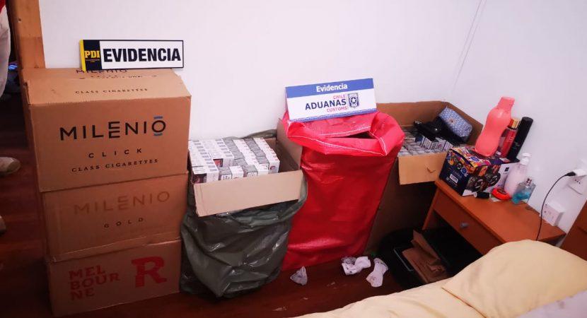Decomisan más de 30 mil cajetillas de cigarrillos en el sur del país que ingresaron de forma ilegal desde Argentina