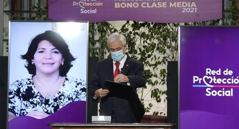 Presidente Sebastián Piñera promulgó nuevo Bono Clase Media para beneficiar a personas afectadas por pandemia