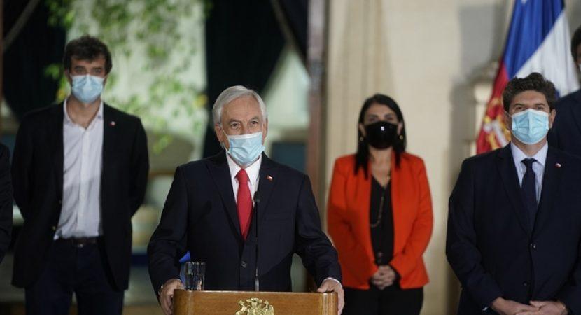 Presidente Sebastián Piñera anuncia su propio proyecto de Tercer Retiro del 10% con bono de 200 mil pesos