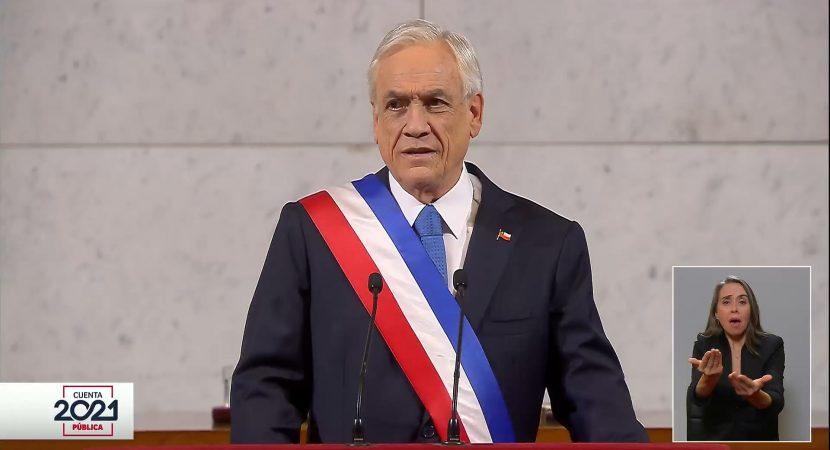 Cuenta Pública: presidente Piñera llama a la unidad y anuncia urgencia a proyecto de matrimonio igualitario