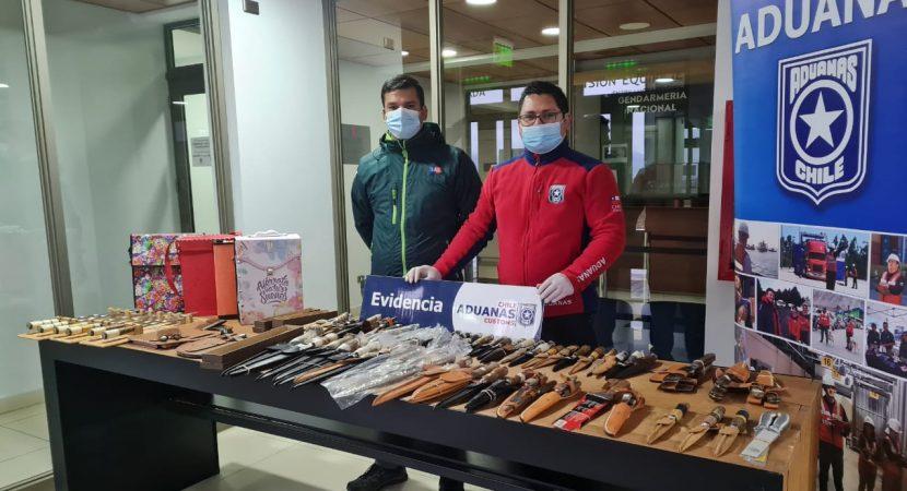 Aduanas y SAG interceptan millonario contrabando de cuchillos y artículos parrilleros