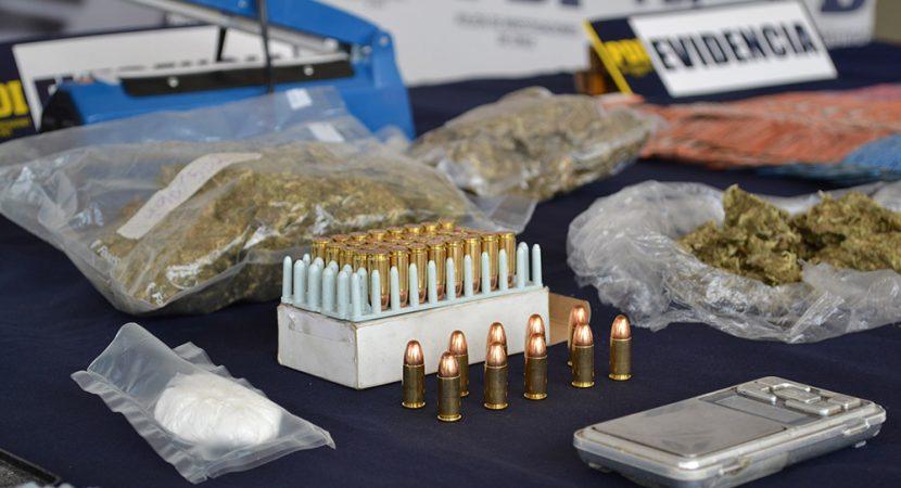 Condenan a 7 años de presidio para autor de tráfico de drogas y tenencia ilegal de municiones