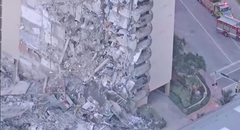 Derrumbe parcial de edificio deja 18 fallecidos y varios heridos en Miami