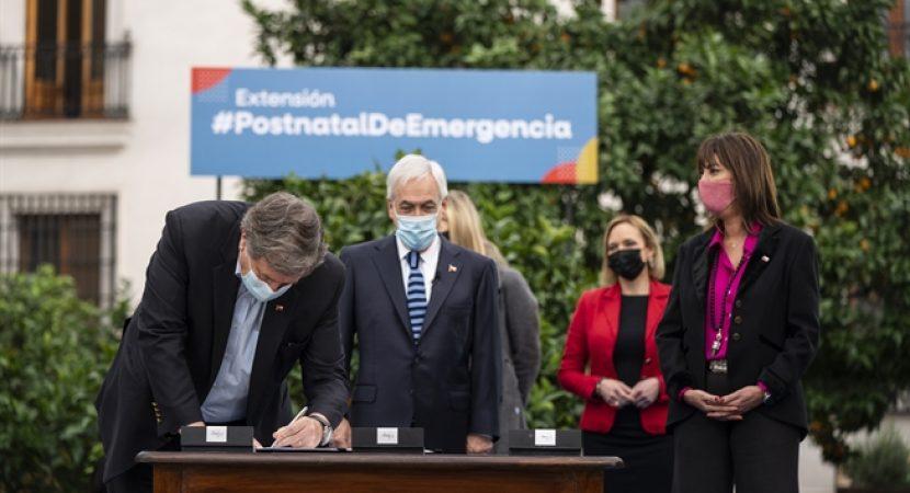 Presidente Piñera promulga Ley que extiende el Postnatal de Emergencia