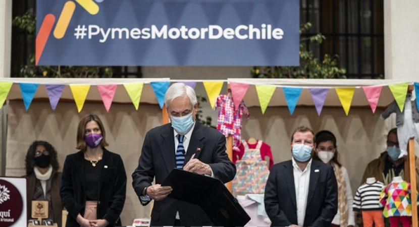 Presidente Piñera promulga bonos y beneficios tributarios para micro, pequeñas y medianas empresas