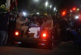 Ejército trasladó restos del Soldado Desconocido hasta el mausoleo institucional
